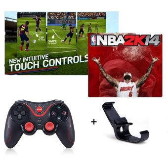 S5 Gen Game Wireless Bluetooth Gamepads Joystick Joypad For iphone Android / iOS SmartPhone Tablet PC for PS3 Game Controller Free Holder - intl