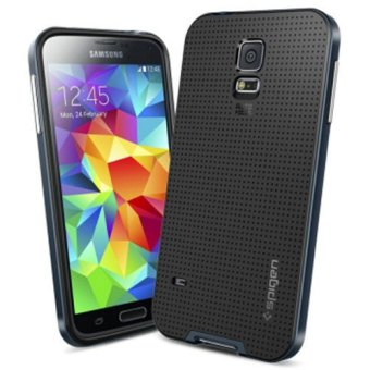 S5 with Brand Logo Dual Layer Neo Armor Case for Samsung Galaxy S5i9600 Cool Hybrid Slim Back Cover Phone Bags for Samsung S5(Black)