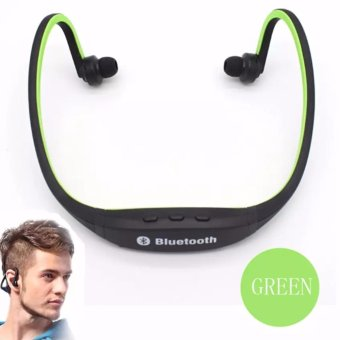 S9 Sports Wireless Bluetooth Stereo Earphone Headphones In-earHeadset Neckband for iPhone 7 Plus/iPhone6S Plus/SE/5S/ for SamsungAndroid Mobile Phones(GREEN)
