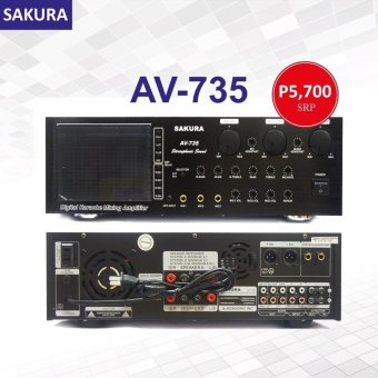 Sakura AV-735 700W X 2 Karaoke Mixing Amplifier Price Philippines