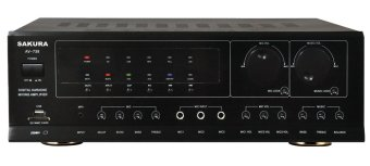 Sakura AV-739 Stereo Mixing Amplifier (Black) Price Philippines