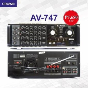 Sakura AV-747 400W x 2 Digital Mixing Amplifier Price Philippines