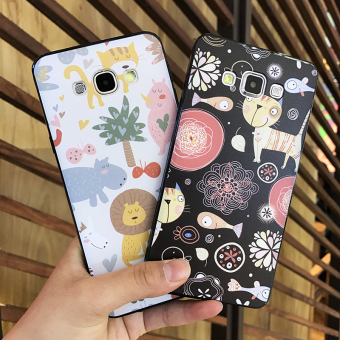 Samsung A5/A7/A8/E7/j7 fresh halter drop-resistant whole package protective case phone case