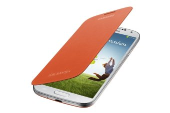 Samsung Flip Cover Folio Case for Galaxy S4 (Orange)