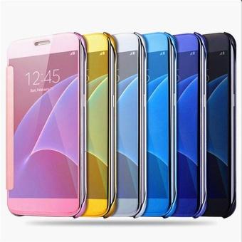 Samsung Flip Electroplate Mirror Phone Case (for Samsung A7 2017) -intl - 2