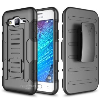 Samsung Galaxy J5 2015 (J500) Optimus Designer (Black) Phone Case with kickstand