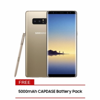 Samsung Galaxy Note8 64GB (Maple Gold) with Free 5000mAh CapdaseBattery Pack