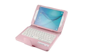 Samsung Galaxy Tab A 8.0 Keyboard case, CLOUDSEA Folding PU Leather Folio Case Cover & Detachable Wireless Bluetooth Keyboard Cover Case for Samsung Galaxy Tab A 8.0 SM-T350/P350 Android Tablet (Pink) - intl