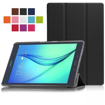 Samsung Galaxy Tab A 8.0 SM-T350 8-Inch Tablet Case - PU Leather Hard Shell Multi-Angle Stand Auto Sleep Wake Magnetic Smart Cover (Black)