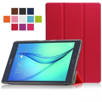 Samsung Galaxy Tab A 8.0 SM-T350 8-Inch Tablet Case - PU Leather Hard Shell Multi-Angle Stand Auto Sleep Wake Magnetic Smart Cover (Red)