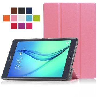Samsung Galaxy Tab A 9.7 SM-T550 9.7-Inch Tablet Case - PU Leather Hard Shell Multi-Angle Stand Auto Sleep Wake Magnetic Smart Cover (Pink)