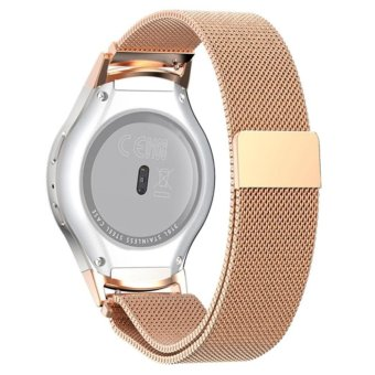 Samsung Gear S2 RM-720 Watch Band, Milanese Magnetic Loop StainlessSteel Watch Strap with Connector Metal Adapter for Samsung GalaxyGear S2 Smart Watch - intl