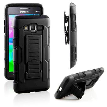 Samsung Grand Prime (G530) Optimus Designer (Black) Phone Case with Kickstand