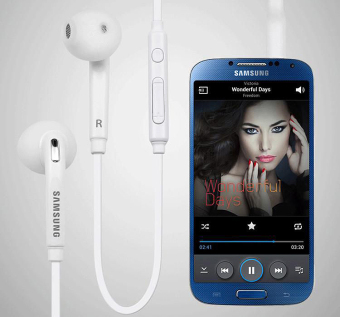 Samsung Handsfree In-ear Headset with Mic For Samsung Galaxy S7/S7Edge (White)