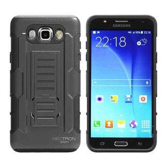 Samsung J7 2016 (J710 ) Optimus Designer (Black) Phone Case with Kickstand