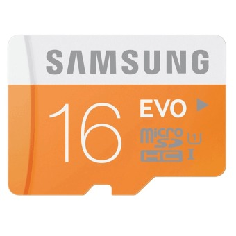 Samsung Micro SDXC Card Class 10 UHS-1 16GB Evo with SD Adapter(Orange/White)