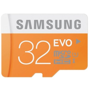 Samsung Micro Sdxc Card Uhs-1 32Gb Evo With Sd Adapter(Orange/White) With Free Phone Ring Stand Price Philippines