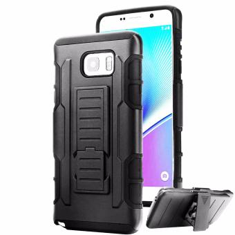 Samsung Note 5 Optimus Designer (Black) Phone Case with Kickstand