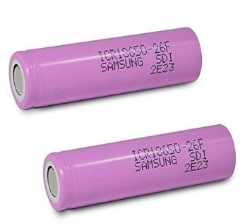 Samsung Original 18650 3000mAh Flat Top Rechargeable Battery (Pink)Set of 2