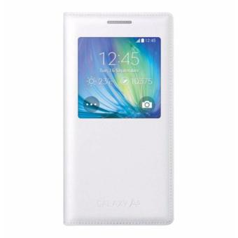 Samsung S View Flip Folio Case for Galaxy A5 (White)