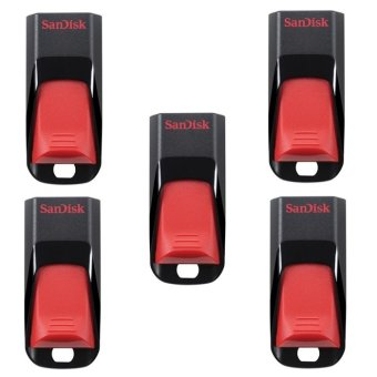 SanDisk Cruzer Edge 32GB Flash Drive Set of 5 (Red/Black)