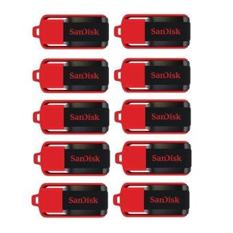 SanDisk Cruzer Switch 16GB Flash Drive Set of 10 (Red/Black)