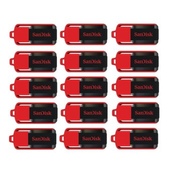 SanDisk Cruzer Switch 32GB Flash Drive Set of 15 (Red/Black)