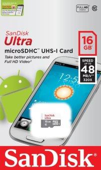 Sandisk SDSQUNB-016G Ultra Micro SD Class 10 16GB Memory Card