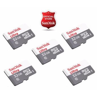 Sandisk Ultra Micro SDHC Class 10 UHS-I 32GB SDSQUNB-032G (SET OF5)