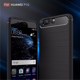 SANHE Carbon Fiber Texture Rugged Armor Lightweight Phone Protection Non-slip Anti-fingerprint Anti-scratch Case Cover For Huawei P10 5.1inch - intl
