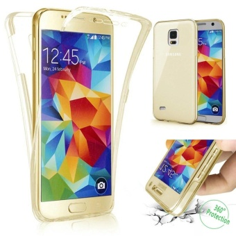 Scratch Proof 360 Front and Back Full Body Protection SemiTransparent Flexible TPU Bumper Case Anti-Scratch Protective Casefor Samsung Galaxy S5 - intl