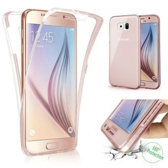 Scratch Proof 360 Front and Back Full Body Protection TransparentFlexible TPU Bumper Case Anti-Scratch Protective Case for SamsungGalaxy S6 Edge Plus - intl