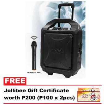 SDigital Bass Cruzer Portable Speaker System With Balanced Full Range Sound (Easy to carry with wheels) with FREE Jollibee GC worth P200