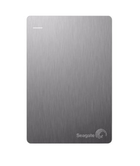 Seagate STDR2000301 Backup Plus Slim 2TB Portable External Drive with 200GB Cloud Storage & Mobile Device Backup App USB 3.0 (Silver) - 2