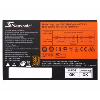 SeaSonic M12II 750 SS-750AM2 750W ATX12V 80 PLUS BRONZEFull-modular Power Supply - 5