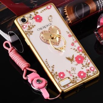 Secret Garden Plating TPU phone case For OPPO F3 (Gold+love) - intl