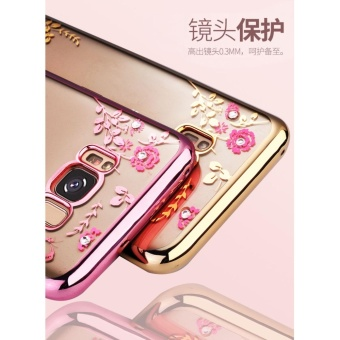 Detail Images Secret Garden Plating TPU phone case For Samsung Galaxy S8 Plus(Gold+