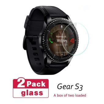 Seeme-Tempered Glass Screen Protector For Samsung Gear S3 Glass(2PC)