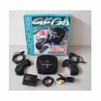 Sega Genesis 3 16 bit Classic Game Core System Complete GameConsole with Built-In Games (Black)