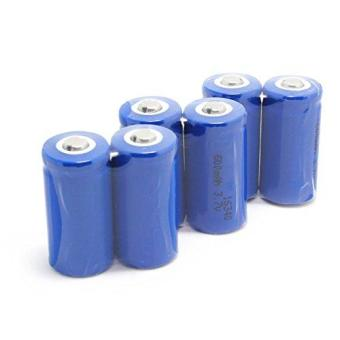 Seperex 6pcs 1word 600mah 3.7v Cr123a 16340 Li-Ion RechargeableBatteries For Flashlight Photo Camera Toys