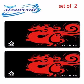 (SET OF 2)TYLOO Long Extender Gaming Mouse Pad Large for KeyboardMouse