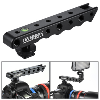Sevenoak SK-H02 Handheld Video Stabilizer Handle Camera Hot-shoeHolder Bracket Support for Nikon Canon Sony Camera MonitorMicrophone LED Lights - Intl