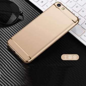 Shockproof 3 In 1 Luxury Plating Matte Frosted Case Hard PC Back Cover for VIVO Y53 - intl