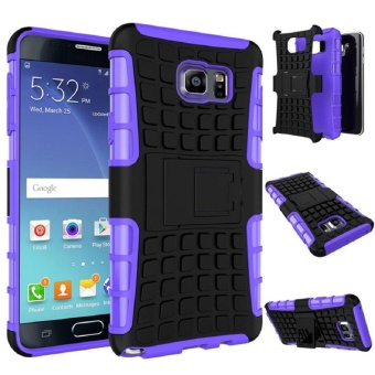 Shockproof Armor Full Body Protective Case with Kickstand CaseCover Skin for Samsung Galaxy NOTE 5 - intl