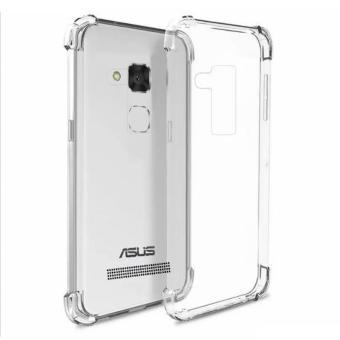 Shockproof clear case.Tpu side of black for ASUS Zenfone 3 Max(ZC520TL) with Tempered Glass
