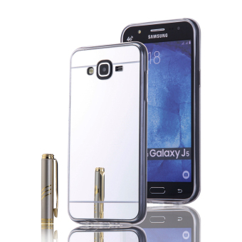 Shockproof Frame Mirror PC Back Case for Samsung Galaxy J5 (2015)(Silver) - intl