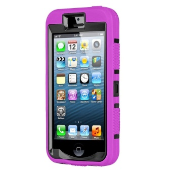 Shockproof Heavy Duty Combo Hybrid Defender High Impact Body RuggedHard PC & Silicone Case Protective Cover for Apple iPhone 5 5SSE - intl - 2