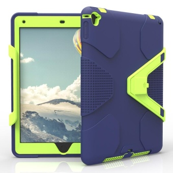 Shockproof Heavy Duty Hybrid Tablet Case With Hard Stand For Apple iPad Air 2 Blue & Green - intl