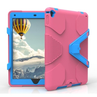Shockproof Heavy Duty Hybrid Tablet Case With Hard Stand For Apple iPad Air 2 Pink & Blue - intl