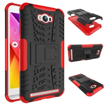 Shockproof Kickstand Case Cover for Asus ZenFone Max ZC550KL (Red)